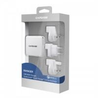 CAPDASE Ranger 快速充電 2.0 USB 認證充電器(全球插頭)