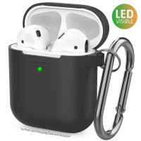 AhaStyle Upgrade AirPods Case Protective Cover [Front LED Visible] Silicone Compatible with Apple AirPods 2 & 1