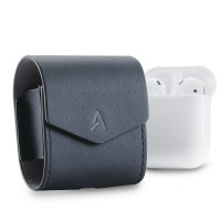 AhaStyle-PODFIT LEATHER, AhaStyle Premium Genuine Leather Magnet closure Flip Cover for Apple Wireless Earphone AirPods