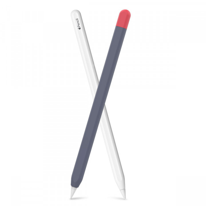AHASTYLE Apple Pencil 2nd Generation Silicone Protection Pen Case PT65-2 - Contrast Color
