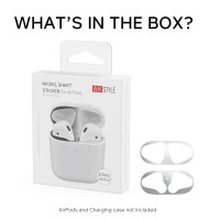 AHASTYLE PT68 - AirPods 1 & 2  Special Dust Sticker (Nickel Gold Material) (1box 2 sets)