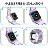 Ahastyle - WA04 Apple Watch Drop-resistant Crystal Lavender Color Sports Strap