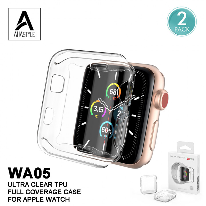 AhaStyle - WA05 Apple Watch Case (2 sets) Ultra-thin transparent TPU material screen full protection Apple Watch