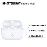 Wireless Charge - Qi Wireless Charging Case Replacement Compatible with Air Pods(Air Pods Not Included) with Built-in Power Battery, 4 Times Full Charge