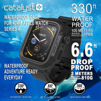 Catalyst® Waterproof Case for 40mm Apple Watch Series 4 - Stealth Black