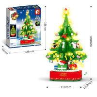 Light and Music Puzzle Building Block Christmas Tree