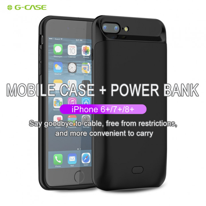 G-case - Power Bank Battery Shell Case 7200mAh For iPhone 6+ / 7+ / 8+