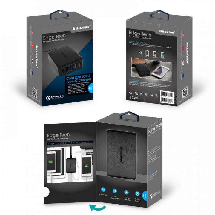 Imazing 53W 5-Port USB/USB-C Charger