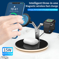 Intelligent 3-in-1 Magnetic Wireless Fast Charger (Charge Phone/Watch/Headset meanwhile) (Model:J970) (Hong Kong Warranty Period 90 days)