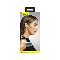 Jabra Eclipse Bluetooth Wireless Hands-Free Headset Compatible with Android and iOS Smartphones - White (Warranty Period 2 year)