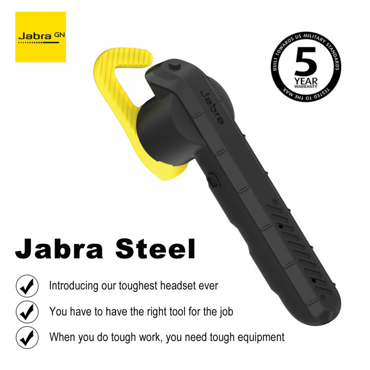 Jabra Steel - Our toughest Bluetooth headset ever (Warranty Period 5 year)