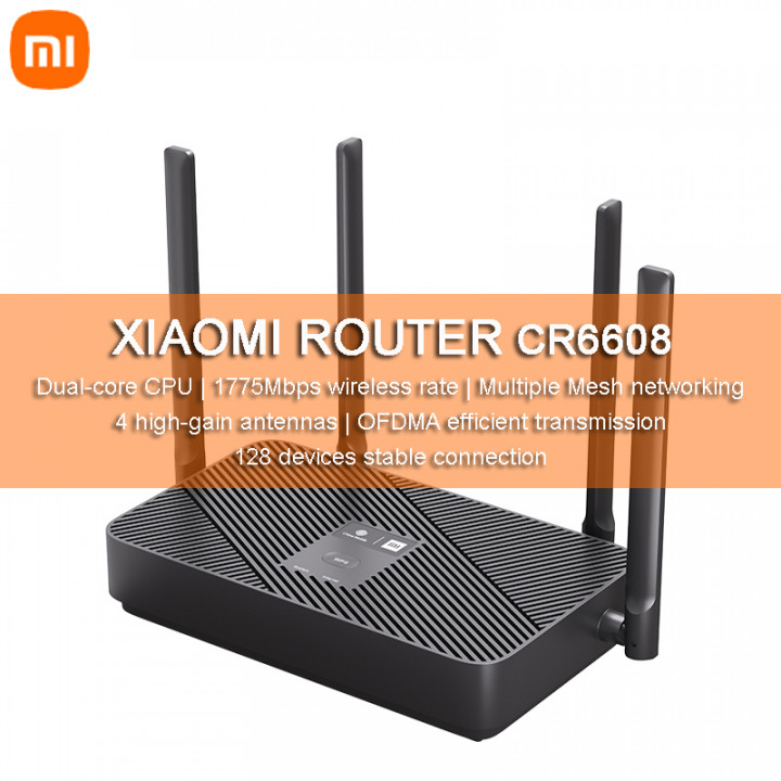 Mi Router CR6608 WiFi6 / AX1800 / Dual-Core CPU / 4 High-gain antennas / Support Mesh Networking (Hong Kong Warranty Period 1 years)