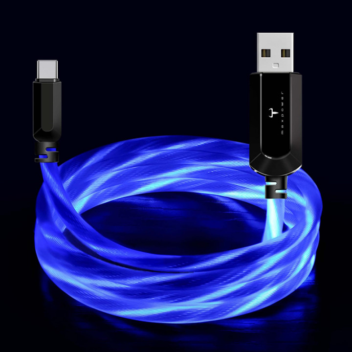 Maxpower LED Charging USB Type C Cable (GL410BL)  (1 Years Warranty Period)
