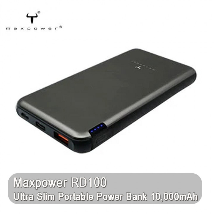Maxtron -Maxpower RD100 Ultra Slim Portable Power Bank 10,000mAh (Warranty Period 1 years)