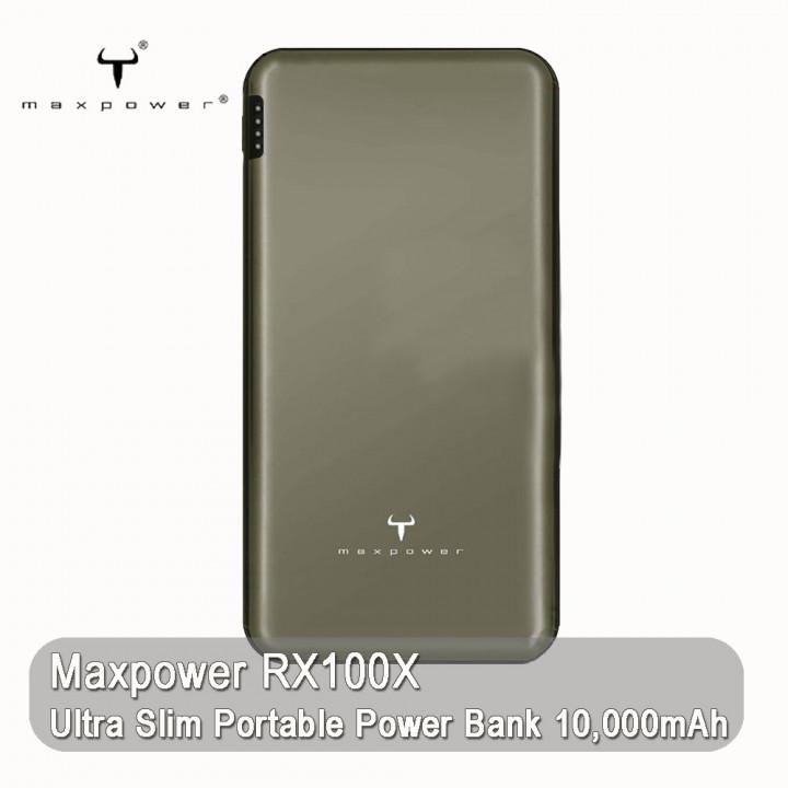 Maxtron - Maxpower RX100X Ultra Slim Portable Power Bank 10,000mAh (Warranty Period 1 years)