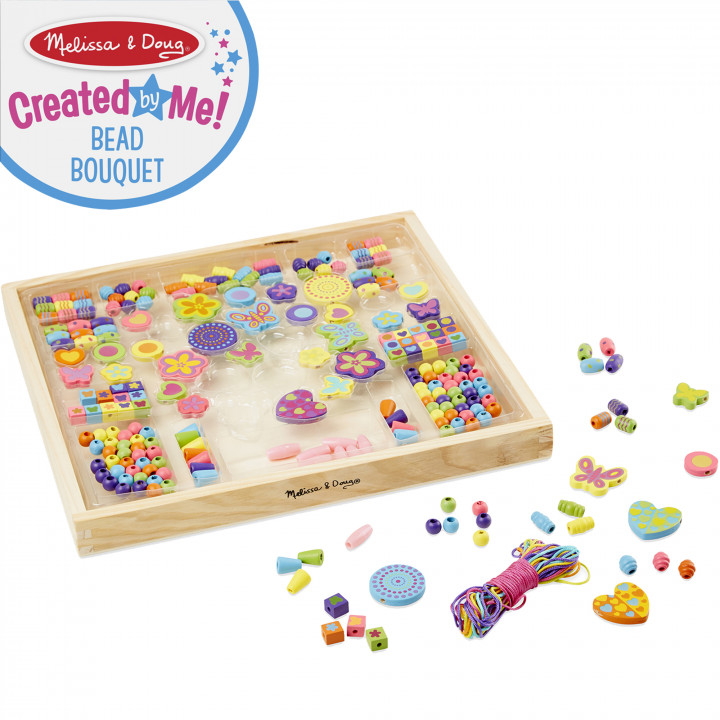 Melissa & Doug - Created by Me! Bead Bouquet Wooden Bead Kit