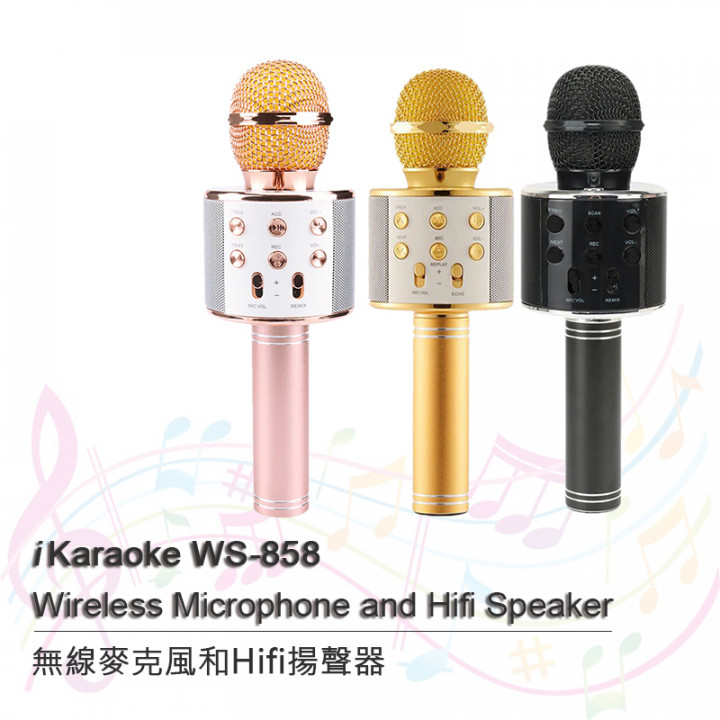 i Karaoke WS-858  Wireless Microphone and Hifi Speaker (Hong Kong Warranty Period 90 days)