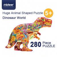 Mideer - Huge Animal Shaped Puzzle Dinosaur World