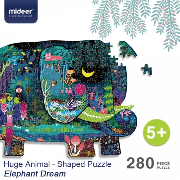 Mideer - Huge Animal - Shaped Puzzle Elephant Dream