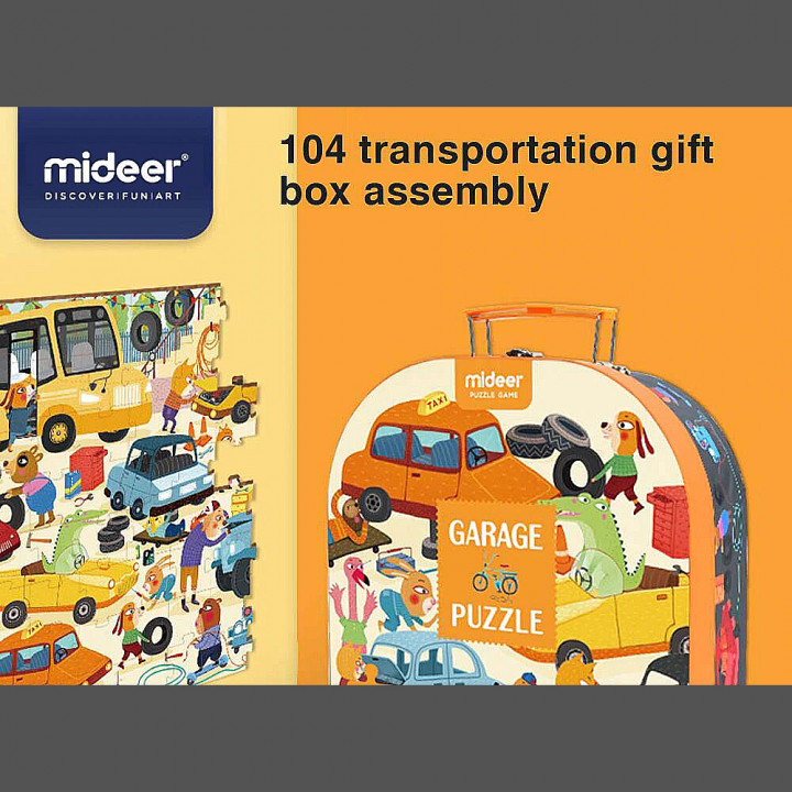 MiDeer - Garage Puzzle children paper puzzle toys (Gift Packing)