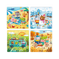 MiDeer - 4-in-1 Theme Children's Puzzle Gift Pack (Four Seasons MD3016)