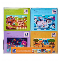 MiDeer - 4-in-1 Theme Children's Puzzle Gift Pack (Animals MD3032)