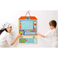 MiDeer - Children's Learning's Wooden Plan Sheet Magnetic Responsibility Chart