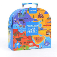 MiDeer - Our World Floor Puzzle Children Paper Puzzle Toys (Gift Packing)