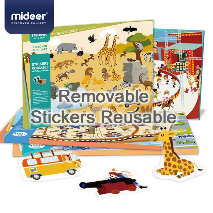 MiDeer - Removable Stickers Reusable (Natural Animal) (MD1015)