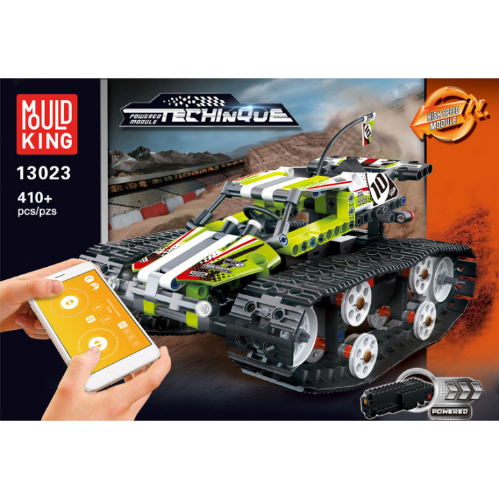Mould King (13023) Remote Control Building Blocks Car, RC Tracked Racer high Speed Cars,  Learning, STEM Toys