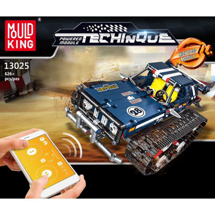 Mould King (13025) Remote Control Building Blocks Car, RC Tracked Racer high Speed Cars,  Learning, STEM Toys