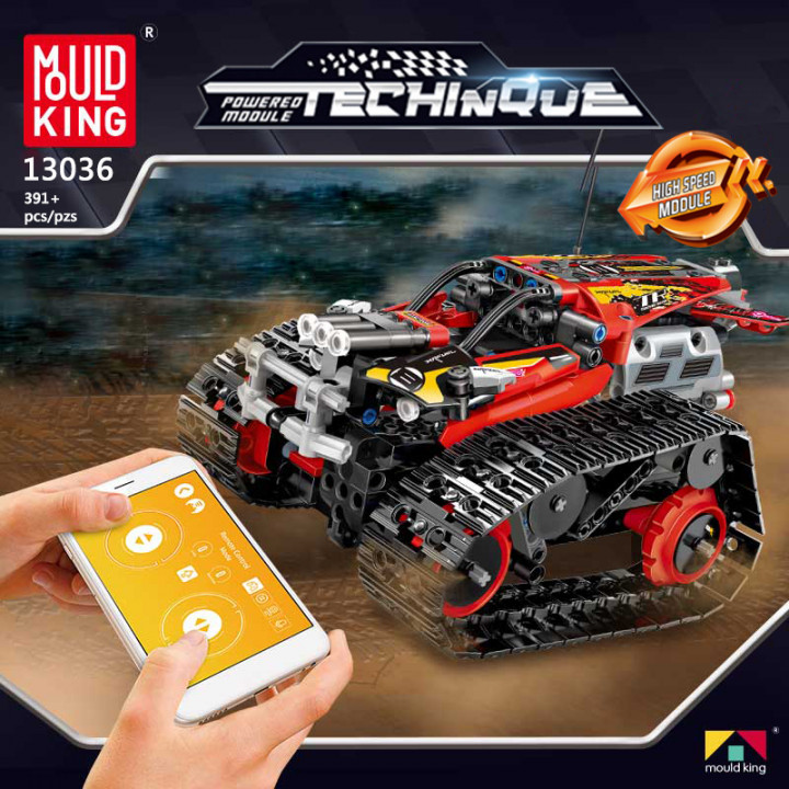 Mould King (13036) Remote Control Building Blocks Car, RC Tracked Racer high Speed Cars,  Learning, STEM Toys