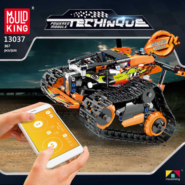 Mould King (13037) Remote Control Building Blocks Car, RC Tracked Racer high Speed Cars,  Learning, STEM Toys