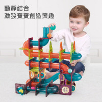 Nukied Magnetic Sheet Color Window Magnetic Track Rolling Ball Building Blocks Toys (172pcs)