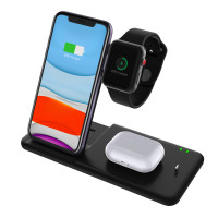4 IN 1 Dual Wireless Charger Stand (Support dual phone + iwatch + AirPods charging)