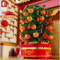 Sembo Block - Light and Music Puzzle Building Block Citrus Reticulata Tree