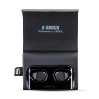 SOUL X-SHOCK Absolute True Wireless Earphones. Bluetooth Waterproof Earbuds. In Ear Headset with Mic and Charging Box. For iPhone iPad Android Smartphones Tablets, Laptop (Warranty Period 1 year)