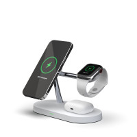 5 in 1 15W Multifunction Magnetic Wireless Charger (T268) for iPhone 12 Series & Apple Watch & AirPods 1 / 2 / Pro, with LED Light (Hong Kong Warranty Period 90 days)