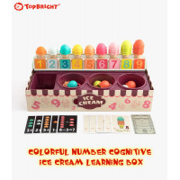 TopBright - Colorful Number Cognitive Ice Cream Learning Box