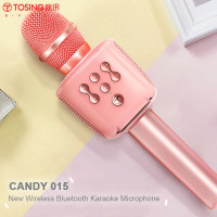 TOSING - Candy 015 New Wireless Bluetooth Karaoke Handheld Record Microphone with Mic Speaker (Hong Kong Warranty Period 90 days)
