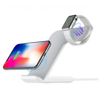 2 In 1 Wireless Fast Charging Dock for Apple Watch And Phone (Warranty Period 90day)