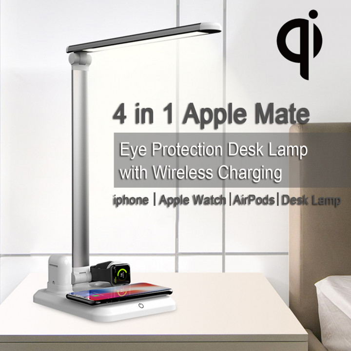 X1  - 4 in 1 Apple Mate Eye Protection LED Desk Lamp with Wireless Charging for iphone, Apple Watch, AirPods (Hong Kong Warranty Period 90days)