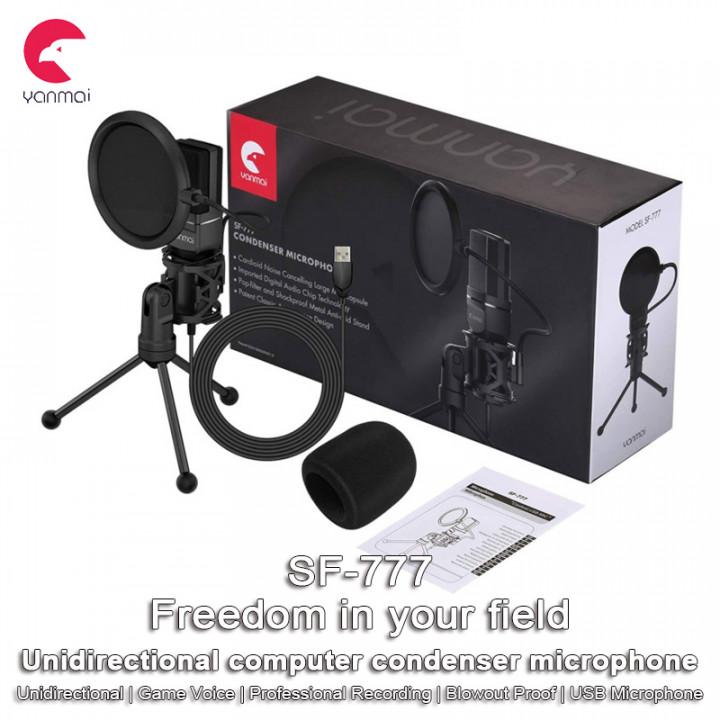 Yanmai -  SF-777 CONDENSER MICROPHONE SET (Inclubs: USB Microphone, Tripod, P-o-p Filter, Sponge Cover)