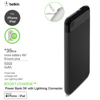 belkin - BOOST↑CHARGE™ Power Bank 5K with Lightning Connector