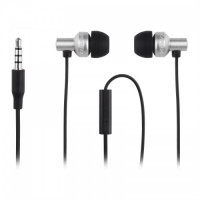 Capdase - Posh Ti Bass In Ear Wired Earphone Silver (Warranty Period 1 years)