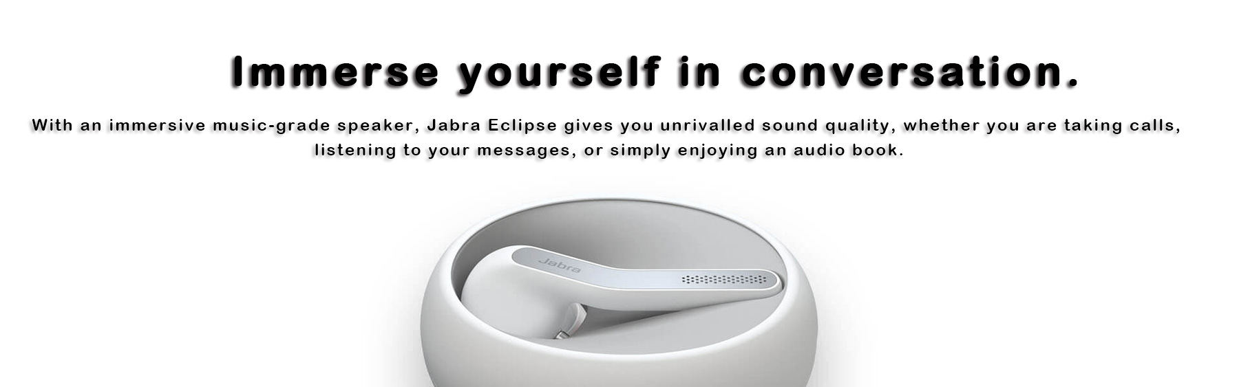 Black Jabra Eclipse Bluetooth Wireless Hands-Free Headset Compatible with Android and iOS Smartphones